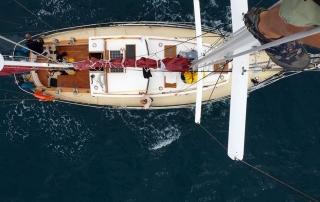 vanuit de mast